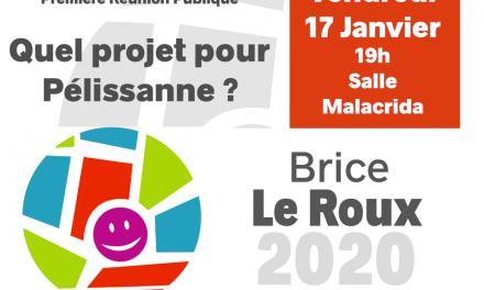 Première réunion publique vendredi 17 Janvier à 19h salle Malacrida !